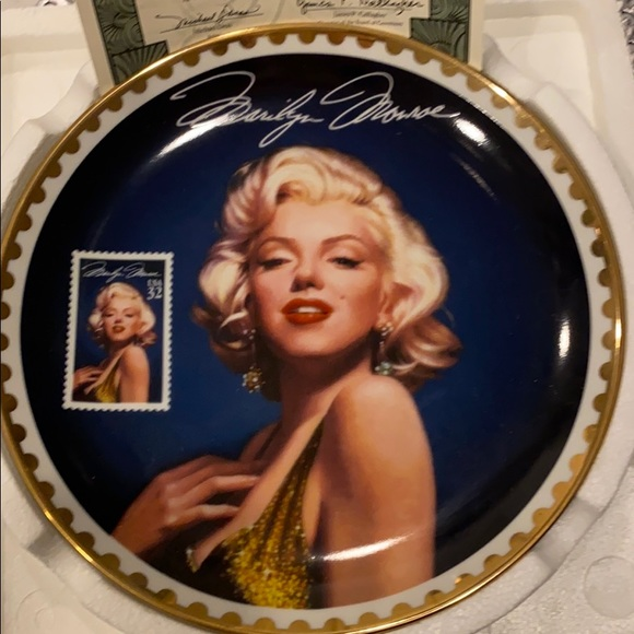 Marilyn Monroe collectors Plate
